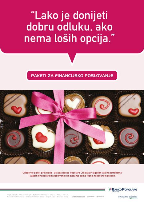Graphic design and advertisment creation for Banco Popolare Croatia.… View More