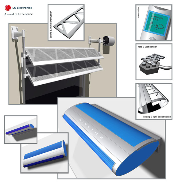 Solar digital book reader, OLED pendant lamp, and awarded air conditioner design.… View More