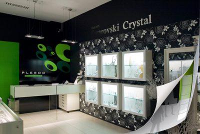 Interior of Swarovski reseller shop Pleroo.… View More