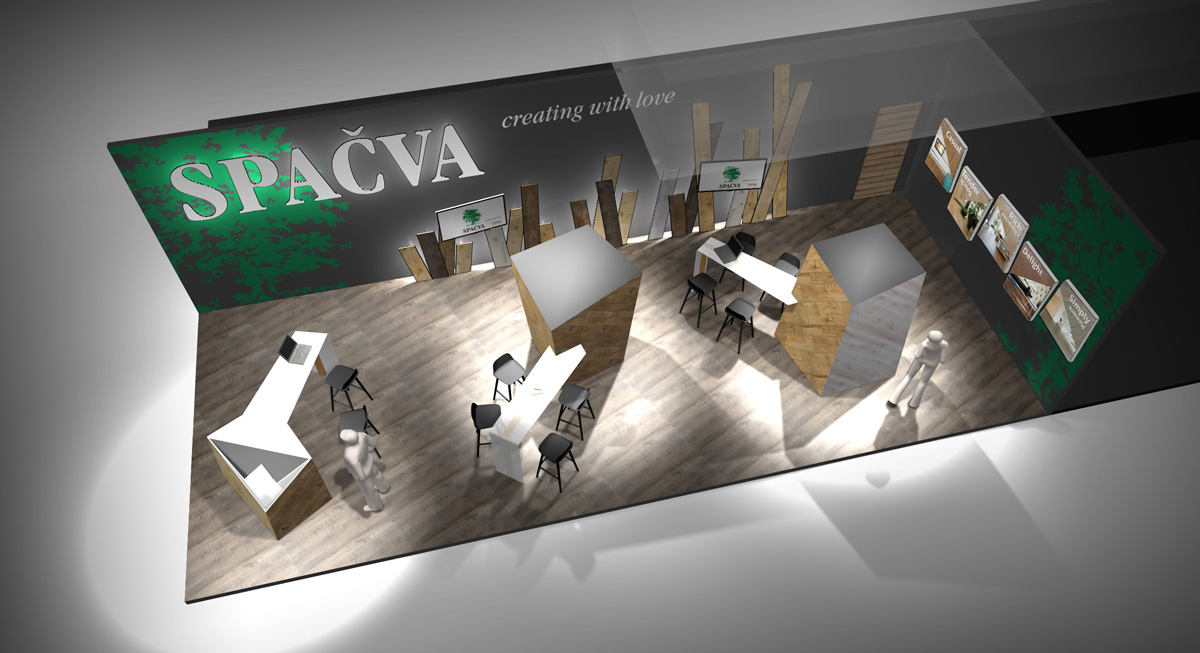Spacva booth at Domotex fair, Hannover.… View More