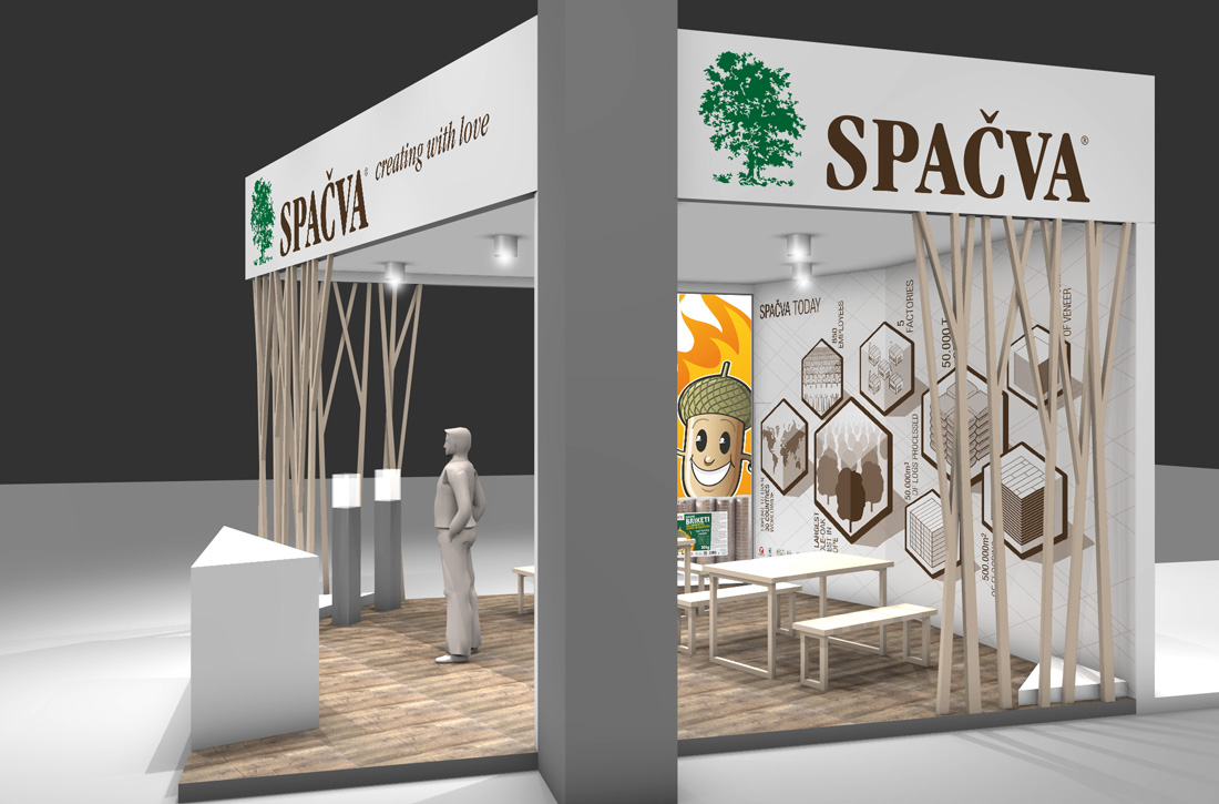 Spacva flooring producer exhibition booths at Progetto Fuoco fair in Verona 2016 & 2018.… View More
